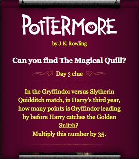 Pottermore Magical Quill Clue: Day3