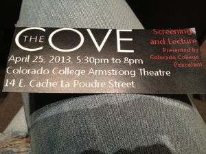 """my """"The Cove"""" screening ticket!"""
