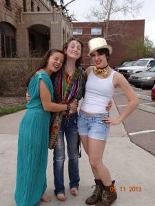 L-R: Camille, Hadar, Mel