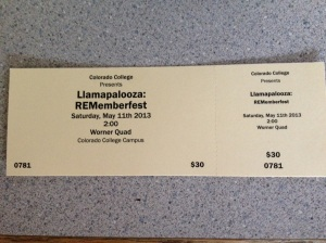 Llama 2013 Rememberfest ticket