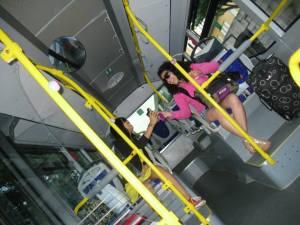 Amairani & I on public transportation © Amairani Alamillo