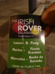 """The Irish Rover"" flyer"