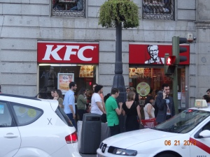KFC in Madrid!