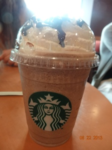 grande Chocolate Cream frappucino!