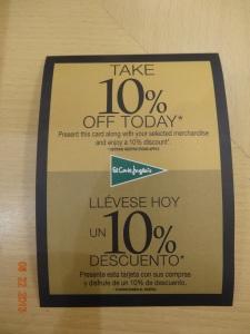 10% off sales!