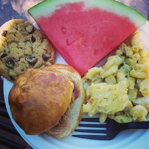 Monday picnic lunch: 1st plate!