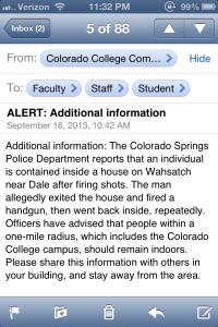 Campus Alert!