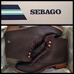 Sebago Claremont boots in Mahogany (size 6.5)