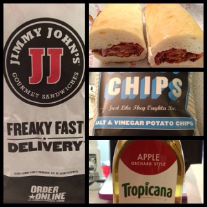 Jimmy John's for dinner!