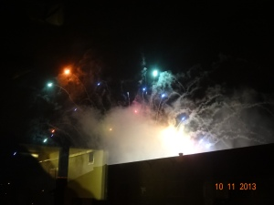 rainbow-colored fireworks