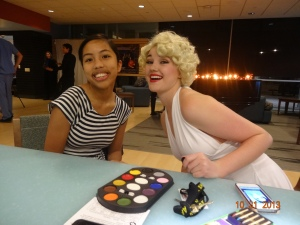 Marilyn Monroe is doing my face paint!