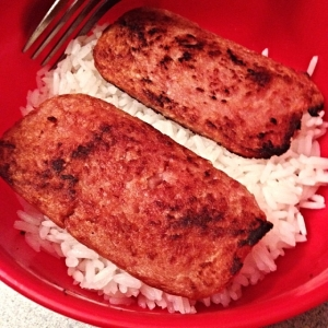 rice and spam for a midnight snack!
