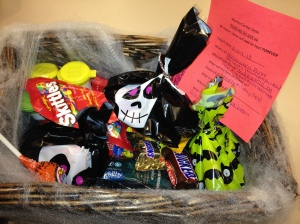 more candy in a basket!