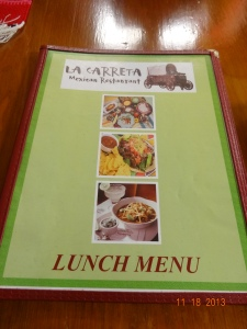 La Carreta menu