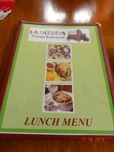 La Carreta menu