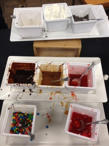 ice cream toppings galore!