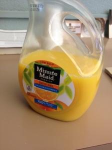nothing like fresh low-pulp orange juice!