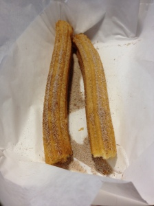 cinnamon churro (cut in half)