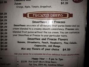 Smoothees vs. Freezes