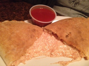 the famous cheesy calzone