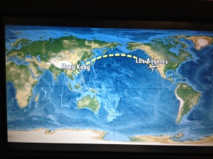 LA to Hong Kong, a 15 hour flight