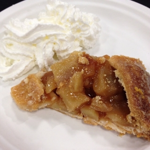 ...FIRST slice of delicious apple pie + whipped cream!