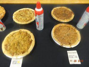 apple pecan pie vs. chocolate pecan pie