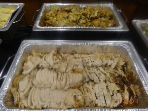 turkey breast and stuffing!