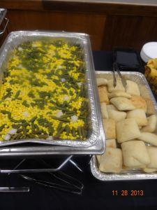 veggies and bread rolls...