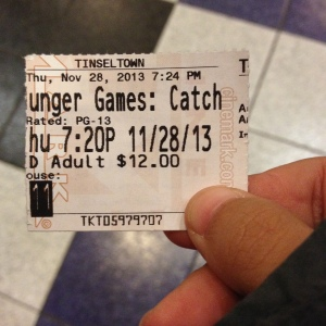 "Time to watch ""Catching Fire""!"