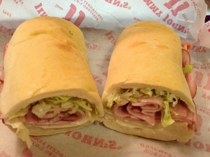 "#1 ""Pepe"": smoked ham, provolone cheese, lettuce, tomato, and mayo!"