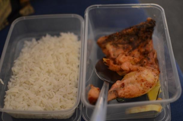 jasmine rice and lemon chicken