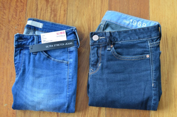 2 pairs of denim jeans
