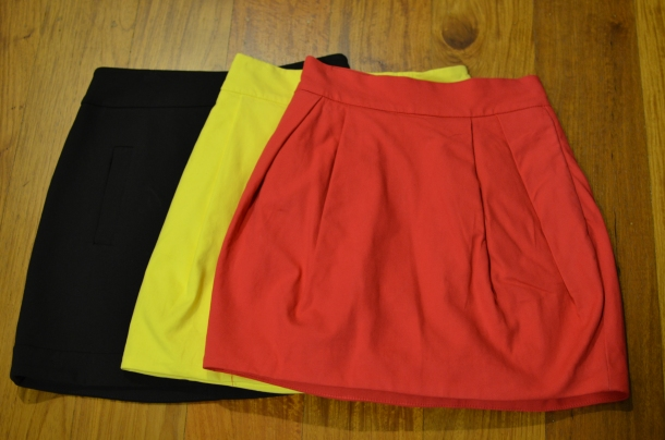 3 color-block skirts