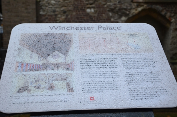 rain upon Winchester Palace (yay to all you Supernatural fans!)