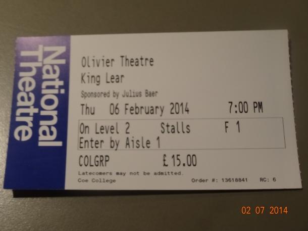King Lear ticket