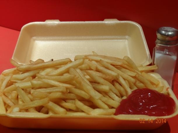 fries and ketchup!