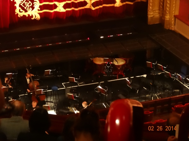 waiting for the orchestra