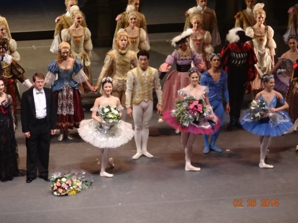 L-R: Carabosse, Director (or Conductor), Princess Aurora, Prince Florimund