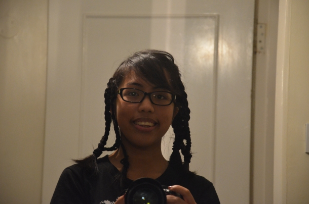 wearing braids to bed!