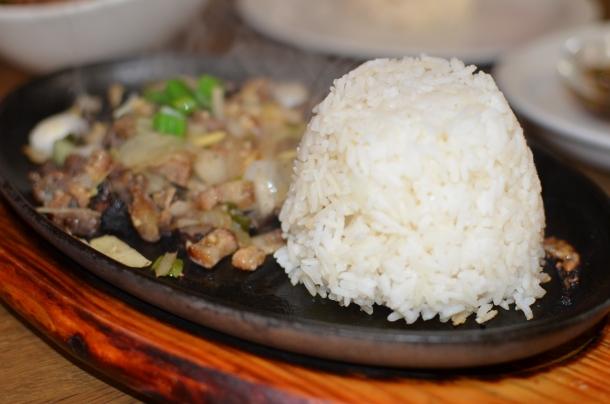 pork sisig and rice