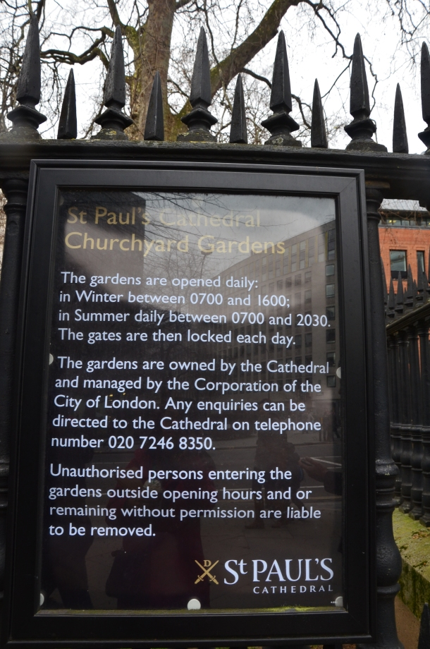 St. Paul's Cathedral information plaque