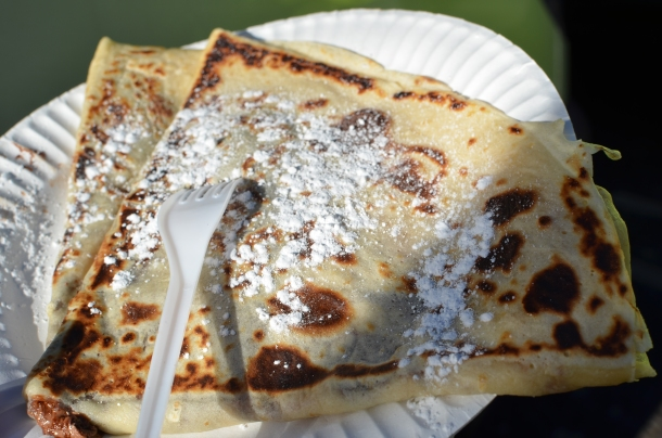 Nutella Crepe dusted with powdered sugar!