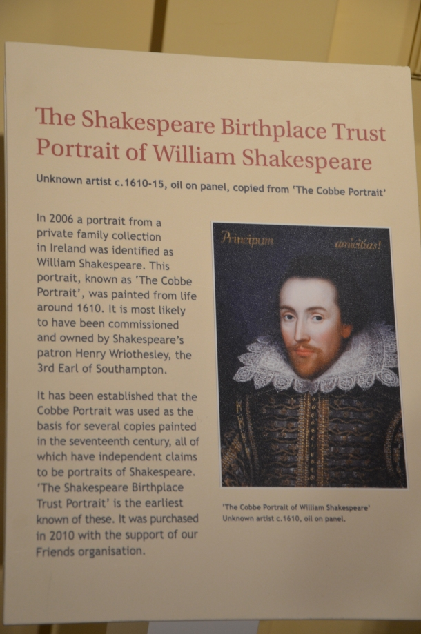 The Shakespeare Birthplace Trust Portrait of William Shakespeare