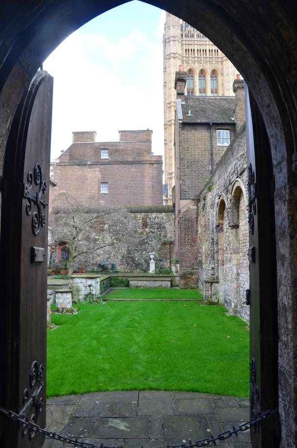 entrance to the chapel garden
