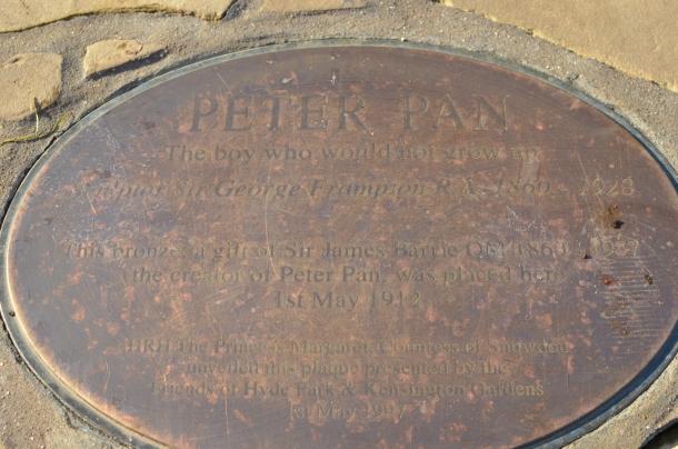 Peter Pan engraving