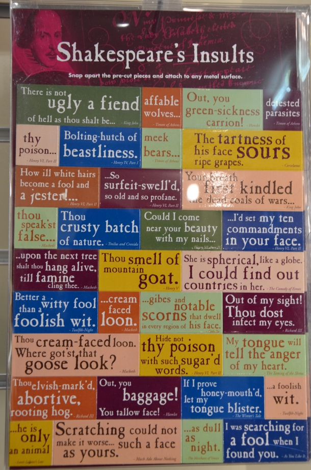 Shakespeare's Insults magnets