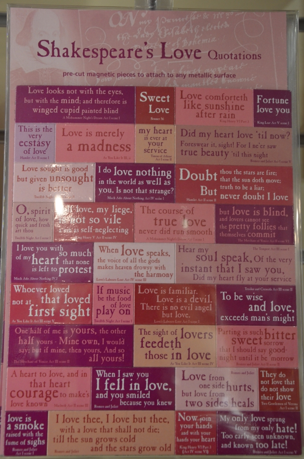 Shakespeare's Love Quotations magnets