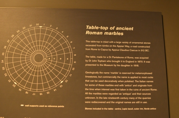 Table-top of Ancient Roman Marbles