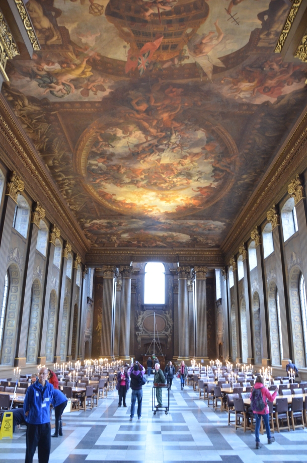 exiting the Painted Hall
